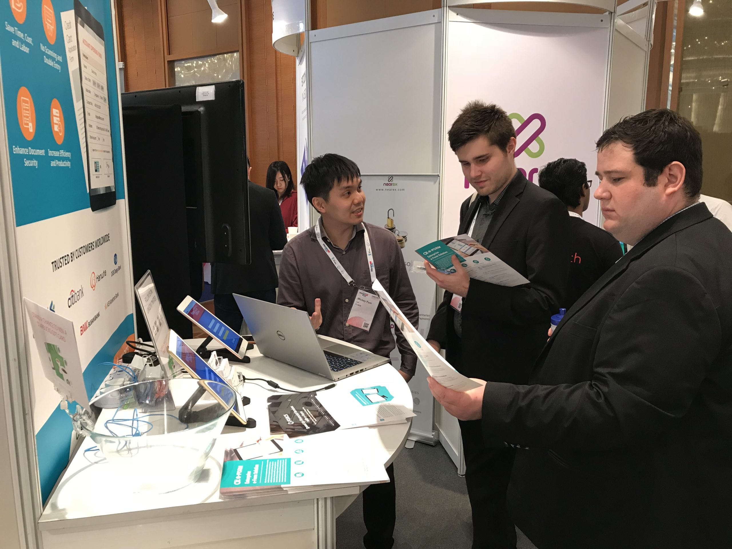 Visitors at FORCS booth, Money 20/20 Asia 2018