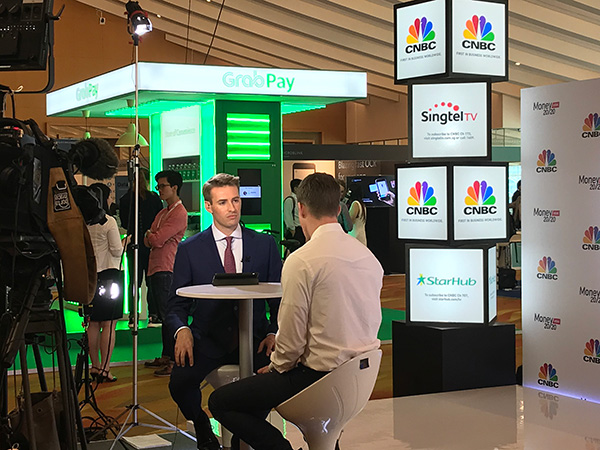 CNBC interviewing at Money 20/20 Asia 2018