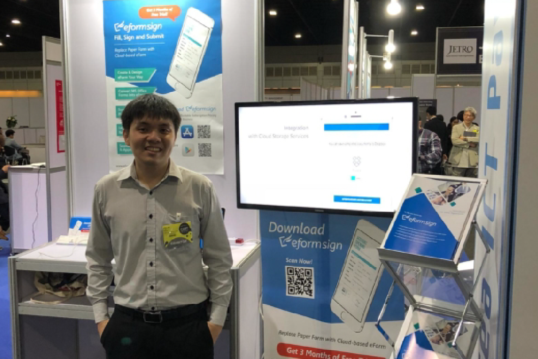 Collin (Sales Manager of FORCS) at CEBIT ASEAN Thailand 2018