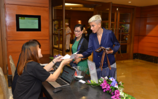 Registration booth at FORCS Fintech Conference 2019
