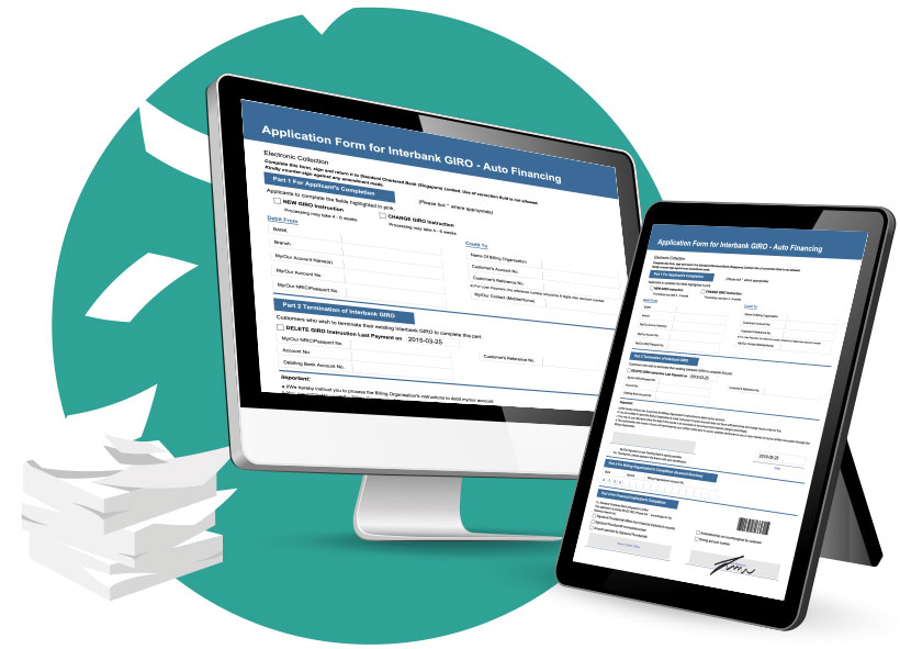 Image of the Branch Teller e-Form - Paperless Banking