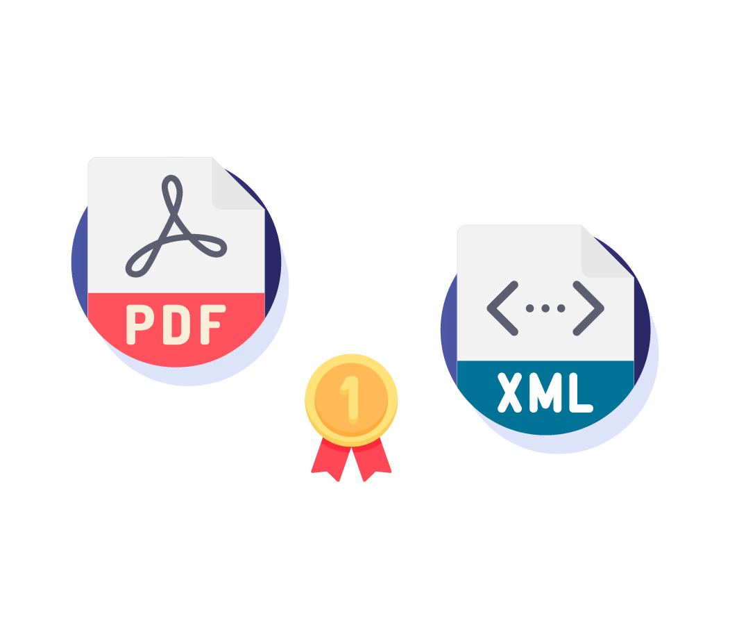 Export e-Form into both XML and PDF formats