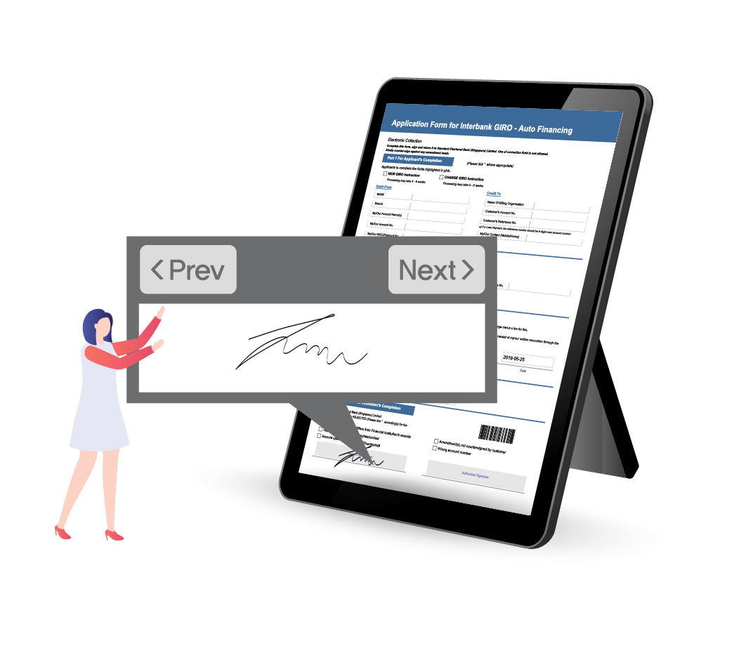 Sign electronically with Paperless Branch e-Form