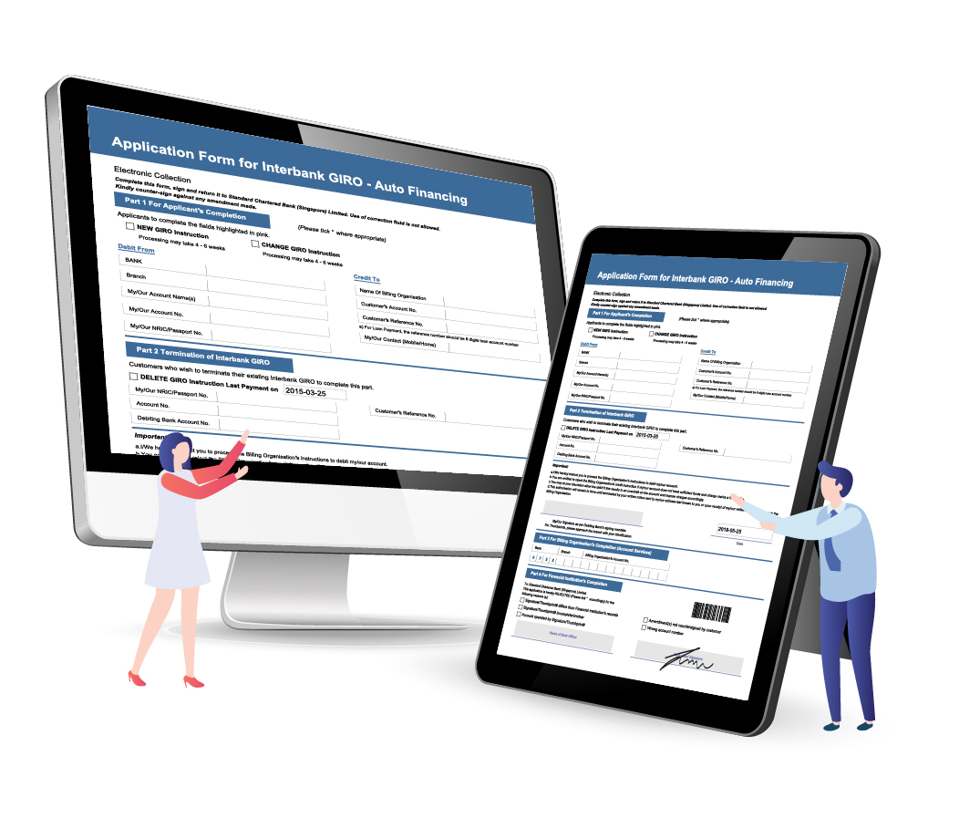Mirror Smart e-Form from one device to another device