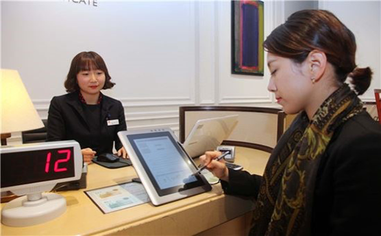 Shinsegae's customer using the management system