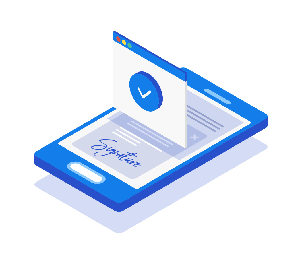 No download and installation for Electronic Signature