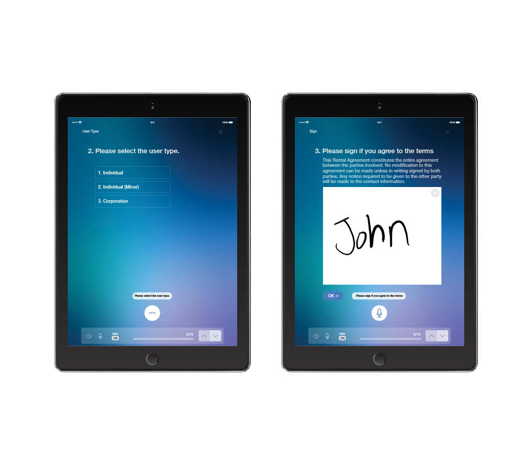 Smart e-Form with Dialogue Flow on tablets